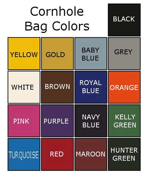 cornhole bags colors