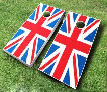 British Flag Cornhole Wrap