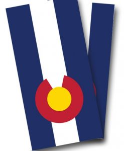 Colorado Flag Cornhole Wrap