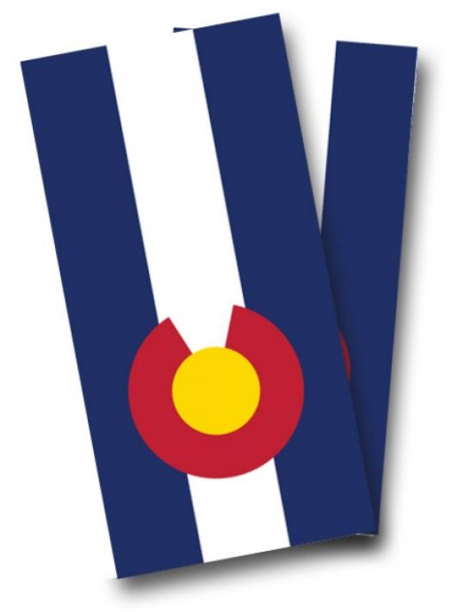 Colorado Flag Cornhole Wrap
