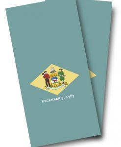 Delaware Flag Cornhole Wrap