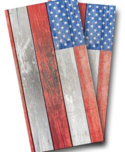 Distressed American Flag Cornhole Wrap