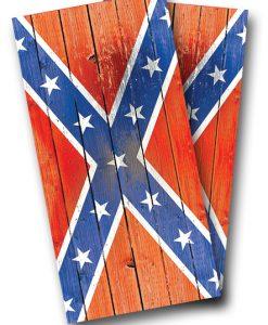 Distressed Rebel Flag Cornhole Wrap