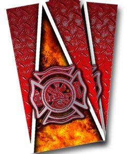 Fireman Cornhole Wrap
