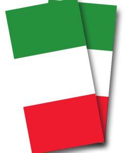 Italian Flag Cornhole Wrap