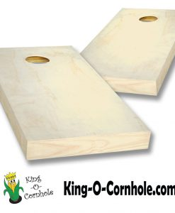 Natural Unpainted Cornhole Boards Set