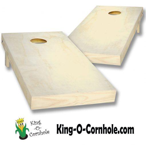 Natural Unpainted Cornhole Boards Set