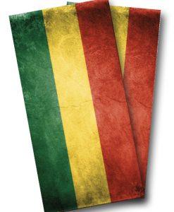 Rasta Flag Cornhole Wrap