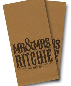 Wedding Mr and Mrs Cornhole Wrap