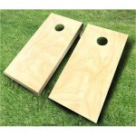 natural wood unpainted cornhole boards