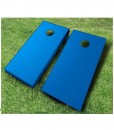 painted cornhole boards royal blue