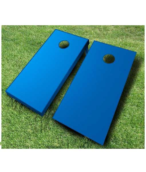 painted cornhole boards royal blue