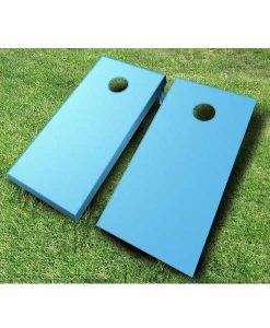 painted cornhole boards baby blue