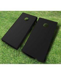 painted cornhole boards black