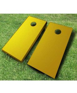 painted cornhole boards gold