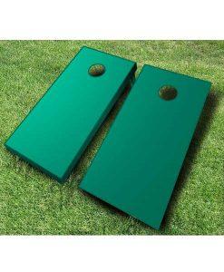 painted cornhole boards green