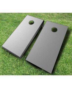 painted cornhole boards grey