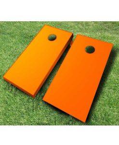 painted cornhole boards orange