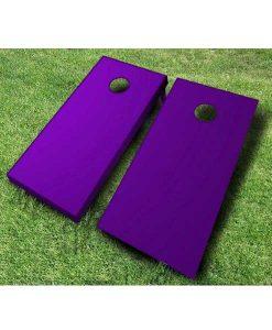 painted cornhole boards purple