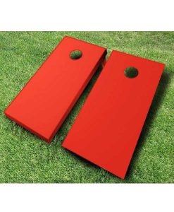 painted cornhole boards red