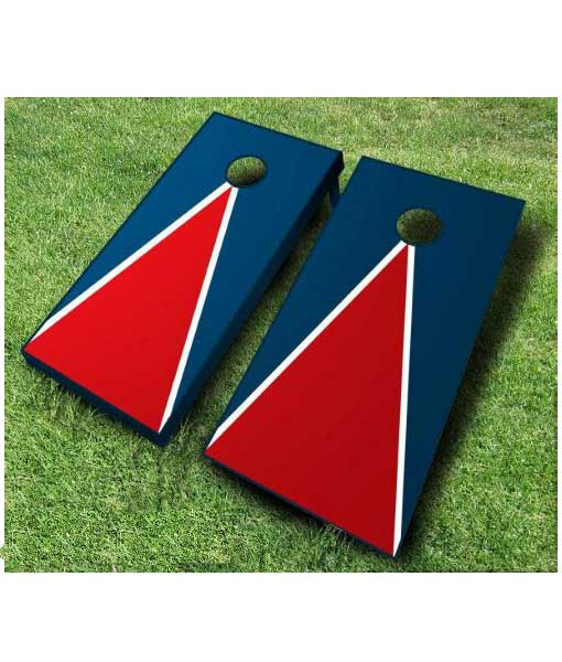triangle painted cornhole boards