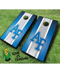 AirForce Striped cornhole boards