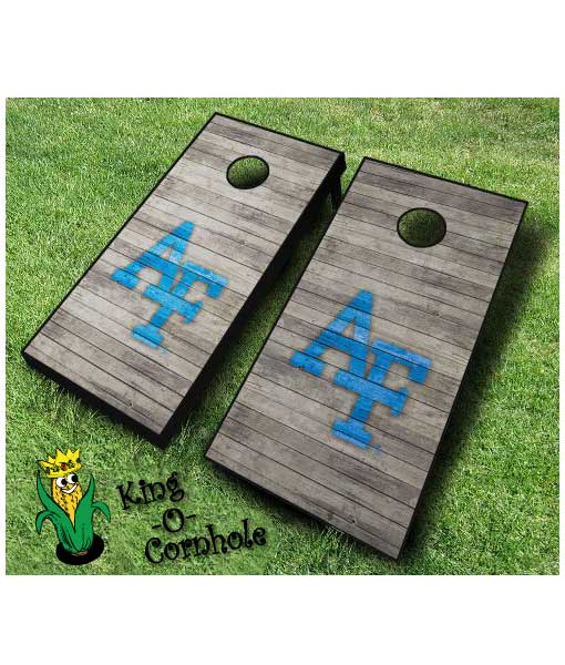 Air Force Distressed Cornhole Boards