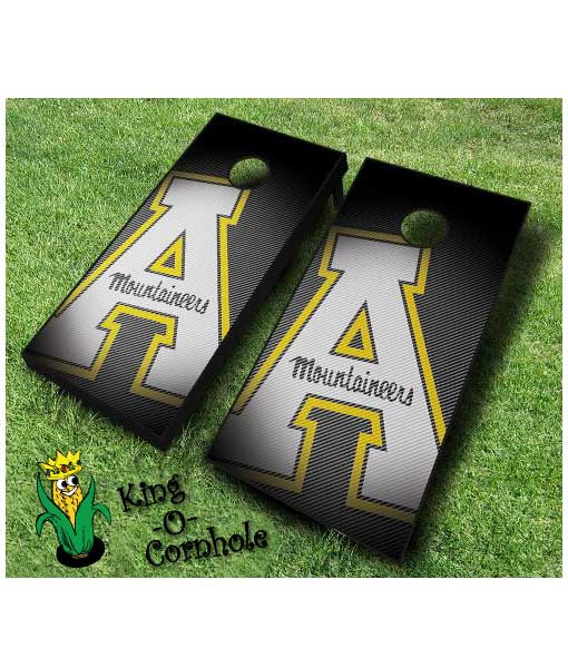 Appalachian State Mountaineers Slanted cornhole boards