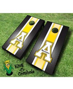 Appalachian State Mountaineers cornhole boards-Stripe