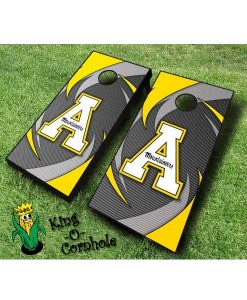 Appalachian State Mountaineers cornhole boards Swoosh
