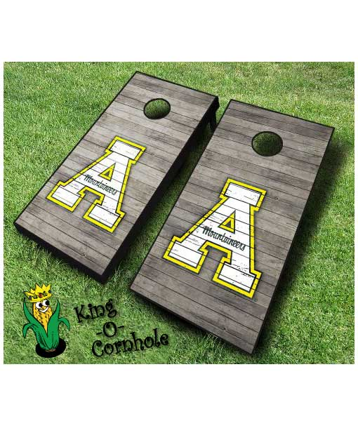 Appalachian State Mountaineers cornhole boards Distressed