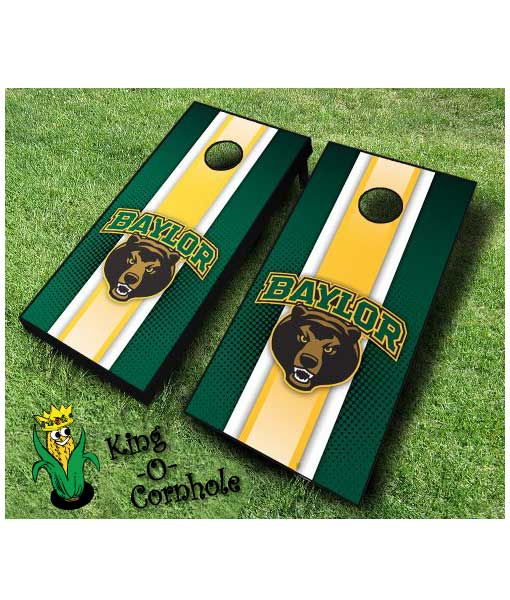 Baylor Bears NCAA cornhole boards-Stripe