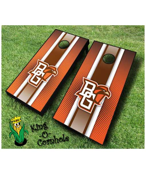 Bowling Green NCAA cornhole boards-Stripe
