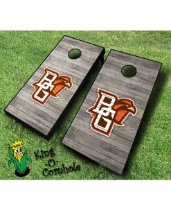 Bowling Green NCAA cornhole boards Distressed