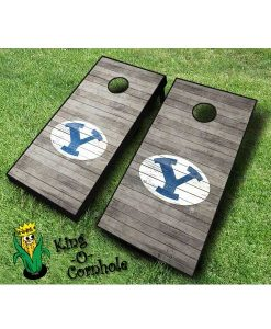 Brigham Young BYU NCAA cornhole boards Distressed