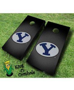 Brigham Young BYU NCAA cornhole boards Slanted