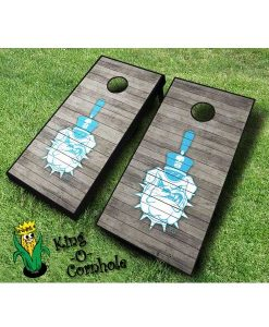 Citadel Bulldogs NCAA cornhole boards Distressed
