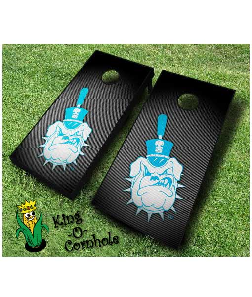 Citadel Bulldogs NCAA cornhole boards Slanted