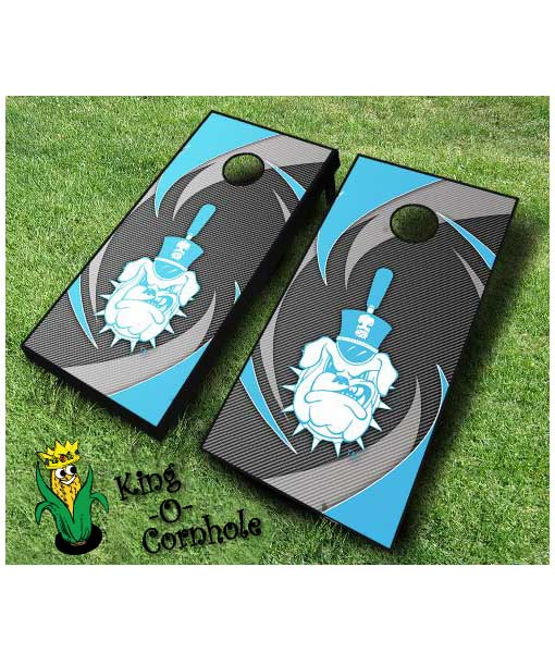 Citadel Bulldogs NCAA cornhole boards Swoosh