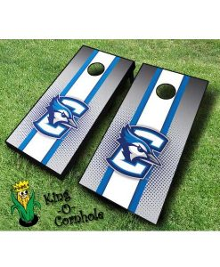 Creighton Bluejays NCAA cornhole boards stripe