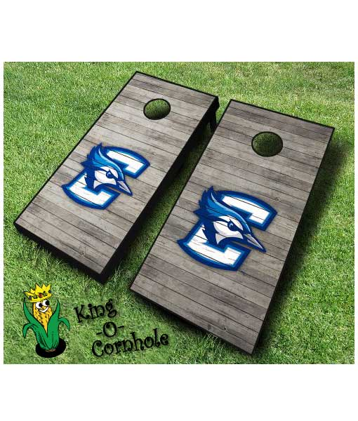 Creighton Bluejays NCAA cornhole boards Distressed