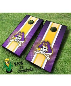 East Carolina Pirates NCAA cornhole boards Stripe