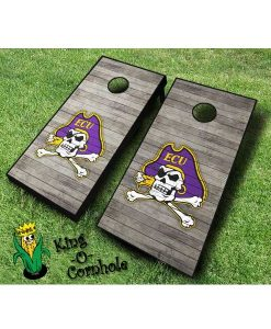 East Carolina Pirates NCAA cornhole boards Distressed