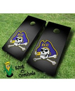 East Carolina Pirates NCAA cornhole boards Slanted