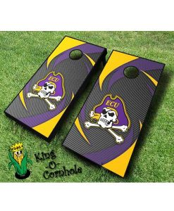 East Carolina Pirates NCAA cornhole boards Swoosh