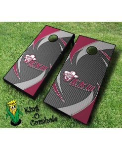 Eastern Kentucky Colonels NCAA cornhole boards Swoosh