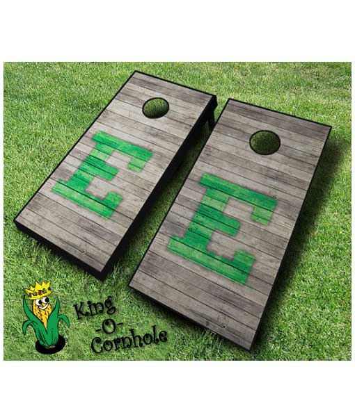 Eastern Michigan Eagles NCAA cornhole boards Distressed