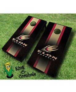 Elon Phoenix NCAA cornhole boards Stripe