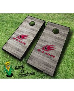Elon Phoenix NCAA cornhole boards Distressed