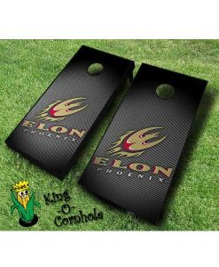 Elon Phoenix NCAA cornhole boards Slanted